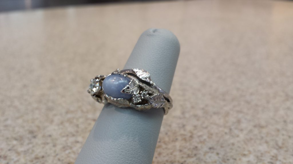 Silver Ivy Ring